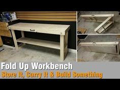 How To Build A Workbench Out Of 2x4 and Plywood - That Folds Up - YouTube