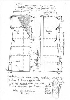 Sewing Tutorials, Sewing Projects, Clothing Patterns, Sewing Patterns, Diy Clothes Life Hacks, Mother Daughter Fashion, Make Your Own Clothes, Pattern Drafting, Pattern Paper