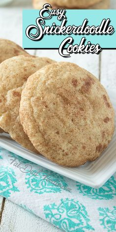 Easy Snickerdoodle Cookie Recipe - Fat Dad Foodie - Cookies and Bars