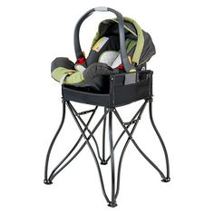 The GoTo 2-in-1 Infant Car Seat Station and Portable High Chair - Black
