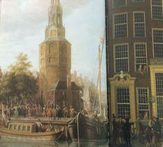 De inscheping van het VOC- personeel bij de Montelbaanstoren 1663
