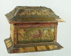RESERVED 17th Century Stumpwork Embroidery Needlework Casket 17th from trinityantiques on Ruby Lane
