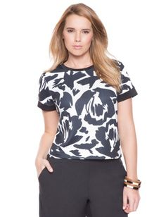 Plus Size Printed Boxy Top From the Plus Size Fashion Community at www.VintageandCurvy.com
