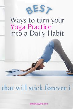 How to develop a daily habit for your Yoga practice. It will change your physical and mental health. Calming Activities, Physical Activities, Mindfulness Practice, Mindfulness Meditation, Yoga Lifestyle, Healthy Lifestyle, Restorative Yoga Poses, Online Yoga Classes, Healthy Sleep