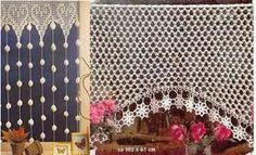cortinas al crochet - Buscar con Google Crochet Curtain Pattern, Crochet Curtains, Curtain Patterns, Lace Curtains, Crochet Doilies, Crochet Patterns, Filet Crochet, Knit Crochet, Macrame Curtain