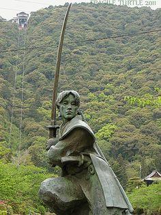 Sasaki Kojirō, Kikko Park, Iwakuni, Japan.