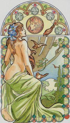 L'as d'écus - Tarot art nouveau par Antonella Castelli