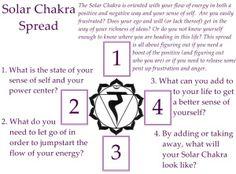 Solar Chakra tarot spread. Escapingstars.wordpress.com