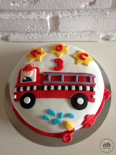 Tarta de cumpleaños Bomberos | Alice Bakery