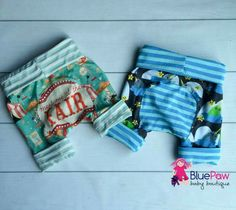 Blue Paw Baby Boutique Take Me To the Fair and Narwhals sz 1 shorties 6m-3y