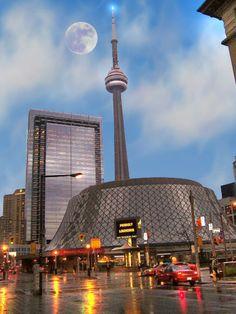 Roy Thompson Hall and CN Tower, Toronto, Canada Toronto Skyline, Toronto City, Toronto Travel, Downtown Toronto, Vancouver, Amazing Buildings, Amazing Architecture, Toronto Architecture, Ottawa