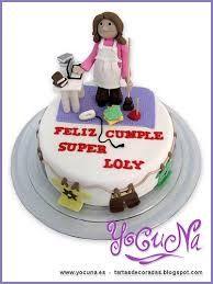 Resultado de imagen para tortas decoradas con amas de casa