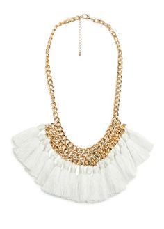 MANGO - Tassel chain necklace