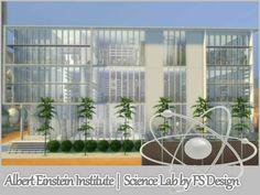 Albert Einstein Institute #sims4 #communitylot #laboratorium