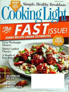Cooking Light Magazine, Recipes Under 25 Minutes, May 2014 Vol.28 No.4