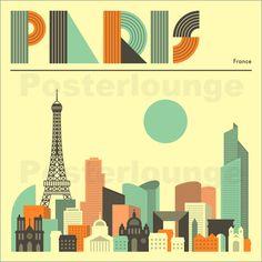 Poster Paris Skyline