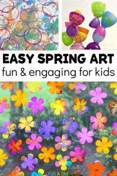 Art projects for kids that are perfect for spring! Find easter art, flower art, and so much more! Lots of great, easy preschool art projects that are perfect for the home or classroom. Preschool Flower Theme, Easter Activities For Preschool, Preschool Art Projects, Cool Art Projects, Craft Activities, Projects For Kids, Crafts For Kids, Spring Activities, Create Christmas Cards