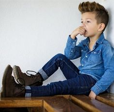 Loving the double denim. Zachary would rock this! Maybe with red converse or DMs instead.