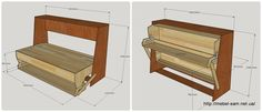 Russian guy figures out how to make a murphybed with desk - Transformer bed-table with your own hands. Murphy Bed Desk, Best Murphy Bed, Murphy Bed Plans, Tyni House, Horizontal Murphy Bed, Modern Murphy Beds, Home Entertainment Centers, Folding Beds, Home Organization