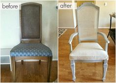 Perfect How To Reupholster A Chair. #anniesloan Paris Grey Chalkpaint With Cane  Back Chair #