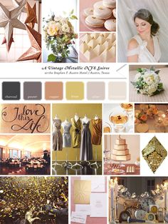 Metallic Color Palette - rose gold, gold & silver. BLING BLING!!