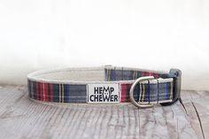 Handmade hemp dog collars and leashes. Made from organic hemp. Cute, yet durable and eco friendly dog gear.