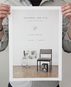 Adam Grüning - Designed for Life exhibition poster, 2013