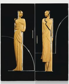 Wood and metal doors c.1930 France