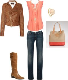 Brown's and Pinks fall outfit