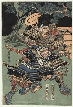 Warriors Struggling by Toyokuni I (1769 - 1825)