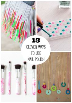 Nail polish isn't  just for your fingernails anymore, as these clever nail polish DIY's prove! I'm ready to use nail polish bottles and get to crafting!