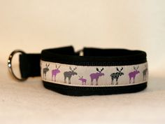 pullstop-collar with elks - made by youdids-dogdesign