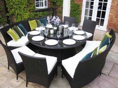 Round Dining Tables Seat 8  Httpargharts  Pinterest Gorgeous Round Dining Room Table Seats 8 Design Inspiration