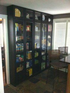 IKEA Pantry Hack Kitchen Pantry using Ikea Billy bookcase Ikea