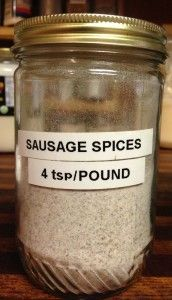 We ate so much sausage, I labeled a jar just for the spices! We ate so much sausage, I labeled a jar just for the spices! Breakfast Sausage Seasoning, Sausage Spices, Homemade Breakfast Sausage, Pork Sausage Seasoning Recipe, Breakfast Sausages, Breakfast Burritos, Sausage Gravy Mix Recipe, Whole30 Breakfast Sausage, Gourmet