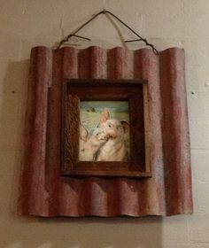 Recycled Metal Projects - corrugated iron made into picture frame