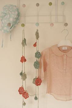 Pretty crochet garland by montyknits, via Flickr
