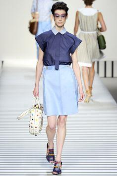 Fendi Spring 2012 Ready-to-Wear Fashion Show - Saskia de Brauw