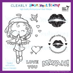 Sealed with a Kiss (clear set) [CYNS069] - USD 9.95 : Your Next Stamp