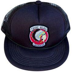 Tribe Head Lacrosse Patch Trucker Hat