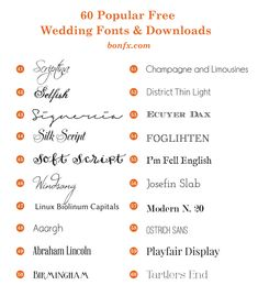 As A Warm Up To Our Upcoming Free Wedding Font Combination Book, Weu0027