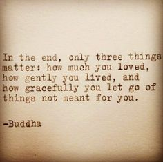 Such wise words, always...