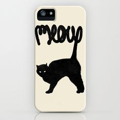 Meow iPhone & iPod Case by Speakerine / Florent Bodart - $35.00