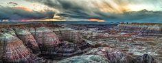 Blue Basin Sunset Petrified Forest National Park