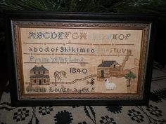 I stitched this on linen...Joyce Reed