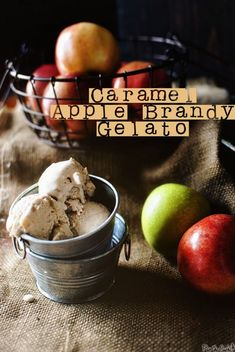 Caramel Apple Brandy Gelato aka the one thing you should really make this fall \\ PasstheSushi.com