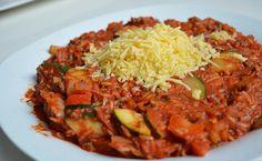 Italiaanse roerbakschotel met tomatenrijst - Miss Craftsy