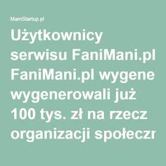 Użytkownicy serwisu FaniMani.pl wygenerowali już 100 tys. zł na rzecz organizacji społecznych