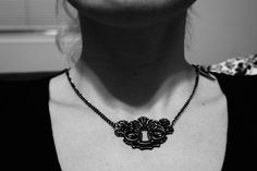 lock and skull key necklace