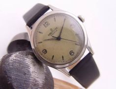 Breitling Geneve Arabic 3,6,9,12 Aged Original Dial Vintage
